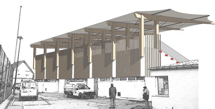 tribune stade avec mervane architectes sur paris et nantes. Black Bedroom Furniture Sets. Home Design Ideas