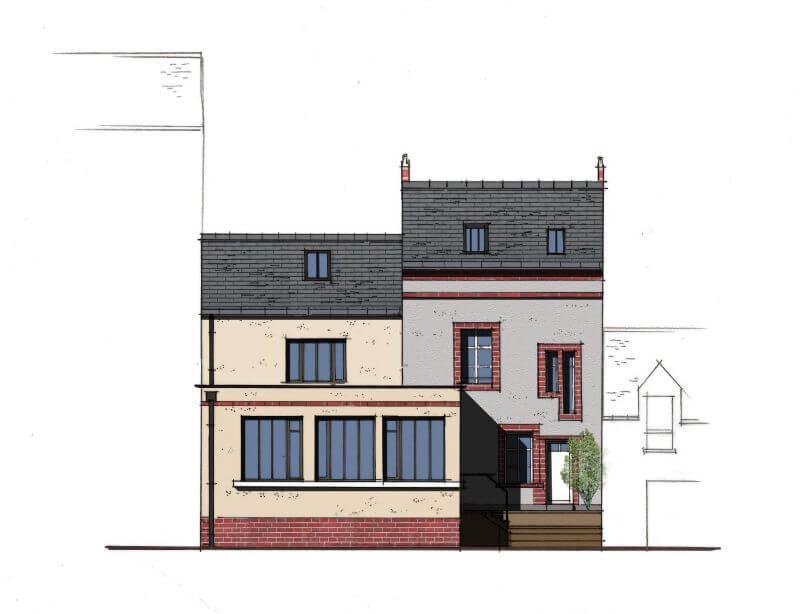 maison avec mervane architectes sur paris et nantes. Black Bedroom Furniture Sets. Home Design Ideas